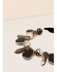 Violeta by Mango - Black Mixed Bead Necklace - Lyst