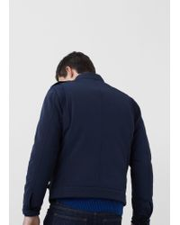 Mango - Blue Technical Fabric Jacket for Men - Lyst
