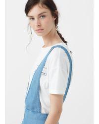 Mango - Blue Soft Fabric Jumpsuit - Lyst