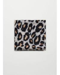Mango | Black Leopard Print Scarf | Lyst