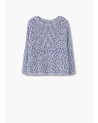 Mango | Blue Openwork Knit Cardigan | Lyst