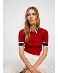 Mango - Red Sweater - Lyst
