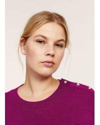 Violeta by Mango - Purple Pearl Embroidery Appliqué Sweater - Lyst