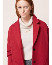 Violeta by Mango | Textured Wool-blend Coat | Lyst