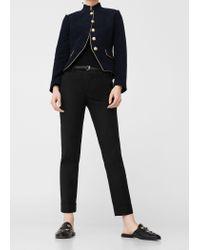 Mango | Black Cotton Suit Trousers | Lyst