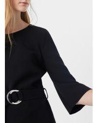 Mango | Black Belted Dress | Lyst