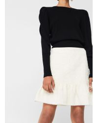 Mango | Black Fluted Hem Skirt | Lyst