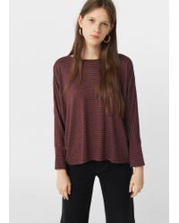 Mango - Multicolor Striped Print T-shirt - Lyst