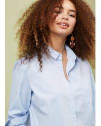 Violeta by Mango | Blue Chest-pocket Cotton Shirt | Lyst