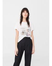 Mango | White Printed Image T-shirt | Lyst