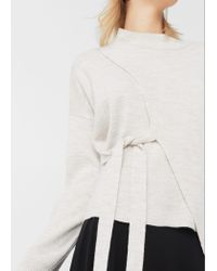 Mango - Multicolor Bow Wrapped Sweater - Lyst