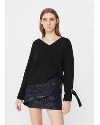 Mango | Black Decorative Buckled Sweater | Lyst