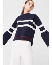 Mango | Blue Flared Sleeves Sweater | Lyst
