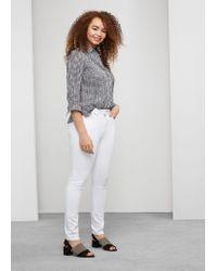 Violeta by Mango | White Super Slim-fit Alexandra Jeans | Lyst