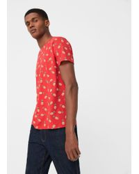Mango   Red Pineapple Cotton T-shirt for Men   Lyst