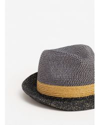 Mango | Blue Tricolor Straw Hat for Men | Lyst