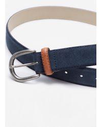 Mango | Blue Suede Belt for Men | Lyst