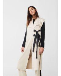 Mango | Natural Laces Cotton Waistcoat | Lyst