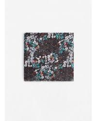 Mango | Black Flower Print Scarf | Lyst