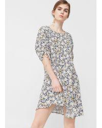 Mango   Blue Asymmetric Hem Dress   Lyst