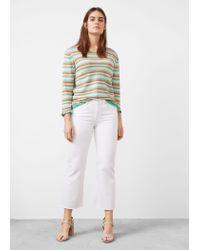 Violeta by Mango   Green Textured Sweater   Lyst