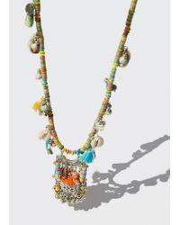 Mango - Metallic Pendant Necklace - Lyst