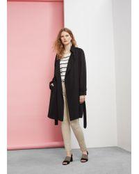 Violeta by Mango   Multicolor Slim-fit Cotton Trousers   Lyst