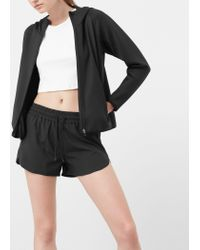 Mango | Black Drawstring Waist Shorts | Lyst