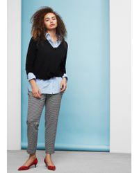 Violeta by Mango | Black Side Slits Sweater | Lyst