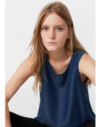 Mango   Blue Soft Fabric Top   Lyst