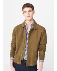 Mango | Natural Flap-pocket Suede Jacket for Men | Lyst