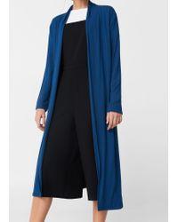Mango | Blue Flowy Cardigan | Lyst
