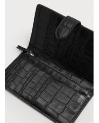 Violeta by Mango | Black Croc-effect Wallet | Lyst