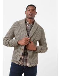 Mango | Gray Cotton Wool-blend Cardigan for Men | Lyst