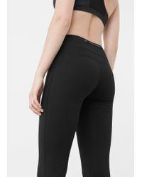 Mango | Black Slimming Effect Leggings | Lyst