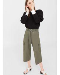 Mango | Natural Cotton Crop Trousers | Lyst