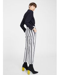 Mango - Blue Straight Cotton Trousers - Lyst