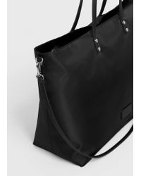 Violeta by Mango | Black Shopper Bag | Lyst