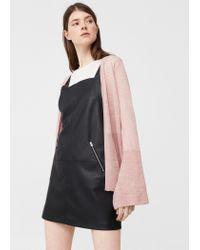 Mango   Pink Flecked Cotton-blend Cardigan   Lyst