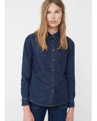 Mango   Blue Denim Shirt   Lyst