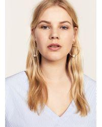 Violeta by Mango - Metallic Hoop Pendant Earrings - Lyst