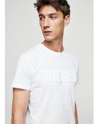 Mango - White T-shirt for Men - Lyst