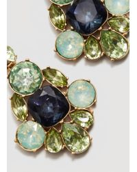 Mango - Green Faceted Crystal Earring - Lyst