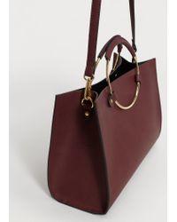 Violeta by Mango | Multicolor Metallic Handle Shoulder Bag | Lyst