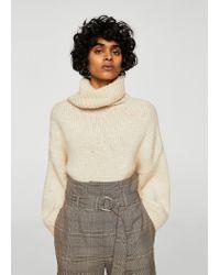 Mango - Brown Belt Check Shorts - Lyst