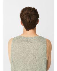 Mango - Green Strap T-shirt - Lyst
