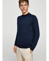 Mango   Blue Wool-blend Knit Sweater for Men   Lyst