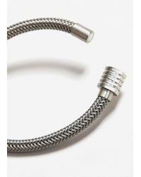 Mango - Metallic Faux Metalic Bracelet - Lyst