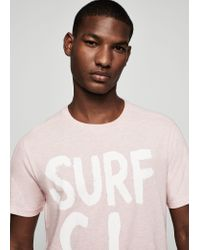 Mango | Pink Message Cotton T-shirt for Men | Lyst