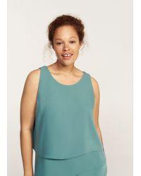 Violeta by Mango - Green Ruffled Midi Dress - Lyst
